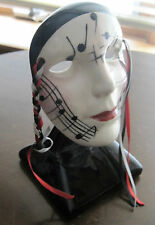 SIGNED CERAMIC CARNIVAL MASQUE BY FANCY FACES NEW ORLEANS,LA XLNT CONDITION