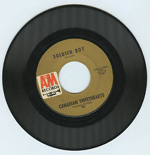 Canadian Sweethearts - Haunting Me / Soldier Boy A&M 786 -- 45 rpm