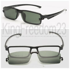 Magnetic Clip on Eyeglasses Frames Black Eyeglass Driving Sunshades