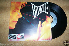 DISQUE 45 TOURS 2 TITRES DAVID BOWIE... china girl + 1