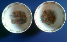 """Royal Doulton Small Bunnykins Bowls ~ Set of 2 ~ Approx. 6"""" in diameter"""
