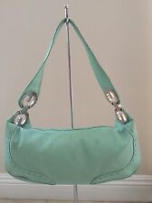 "ESCADA Women's ""Eluna"" Handmade Mint Green Medium Leather Hobo Shoulder Handbag"