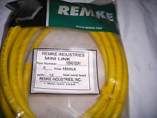 New Remke Industries 105A0120A1 5 Pole Female Automation Cable 12' Yellow
