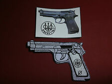 BERETTA 92FS PISTOL PATCH & BERETTA PISTOL STICKER SET