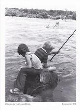"*Postcard-""2 Boys Fishing In The James River""  -Classic-  *Richmond, VA (#210)"