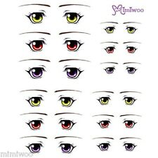 Obitsu 27cm Body 1/6 Dollfie Doll head Fashion Eye Decal Sticker 13 (12 pairs)