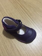New Clarks First Shoes Toddler Girls Soft Leather Shoes Size UK 4.5 F