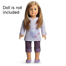 "NEW American Girl Real Me Outfit For 18"" Dolls 3-Piece Purple Tunic Pants Shoes"