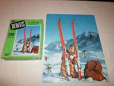 Complete ! Whitman Junior 100 Piece Puzzle Boy Skiing Bonus 4655 Winter Mountain