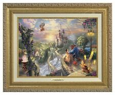 BEAUTY AND THE BEAST - Thomas Kinkade Canvas Classic (Gold Frame)