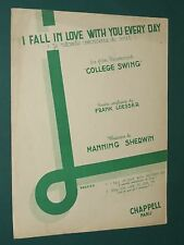 """Partition  """"I fall in love with you every day"""" College swing F LOESSER M SHERWIN"""