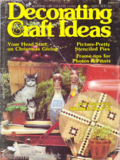 Decorating & Craft Ideas Magazine Sept 1978 Get a Head Start on Christmas Giving