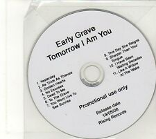 (EU252) Early Grave, Tomorrow I Am You - 2008 DJ CD