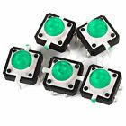 20pcs Green Tactile Push Button Switch Momentary Tact With LED 4pin Round Cap