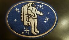 """Astronaut Vintage  embroidered on iron Patch 3.5 x 3""""  Outer Space Cosmos"""