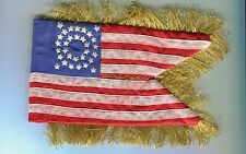 1/6 scale US Union 10th Cavalry Guidon Flag 2 sided with fringe