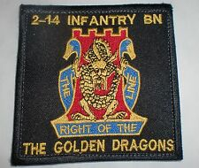ECCUSSON PATCH FORCE SPECIAL AFGHANISTAN AMERICAINE 14TH INFANTRY GOLDENS DRAGON