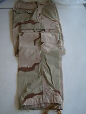 USMC US MARINES ALL RANKS DESERT RIPSTOP BDU CAMO CAMOUFLAGE COMBAT PANTS MD-S