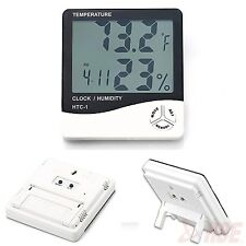 Digital LCD Indoor Outdoor Temperature Thermometer Humidity Test Hygrometer Cloc