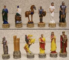 Chess Set Pieces Ancient Battle of Troy vs Sparta vs Mycenae NIB