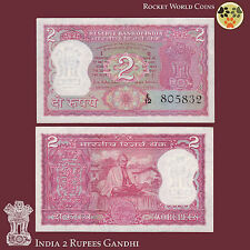 India Paper Money 2 Rupees P-67b Gandhi Commemorative 1970 AU/UNC