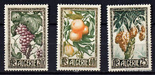 ALGERIE  Scott 229-231 TIMBRES  FLEURS FRUITS  FLOWERS    80M39