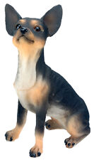 BLACK CHIHUAHUA DOG FIGURINE. LIFELIKE COLLECTIBLE FIGURE STATUE.ADORABLE!!