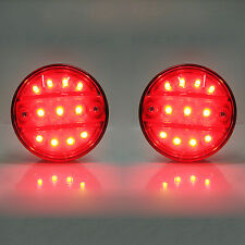 2 Smd Led Tail Light Rear Light 24v Fits Volvo Fh16 Fmx-370 Fh12 Fmx-370
