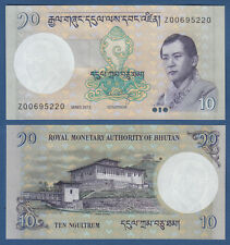 Bhutan 10 ngultrum 2013 replacement Z UNC P. 29 B