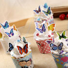 50x Butterflies Wedding Birthday Edible Rice Wafer Paper Cupcake Cake Toppers LS