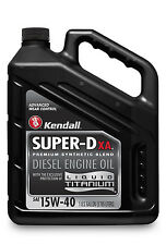 Kendall 1056016 Super-D XA Premium Synthetic 15W-40 Diesel Oil Liquid Titanium