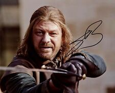 """ Game of Thrones "" Sean Bean Signed 8x10 Photo Stark Proof"