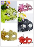 UK Crystal Eye Lace Plastic Mask Venetian Masquerade Party Prom Fancy Dress Ball