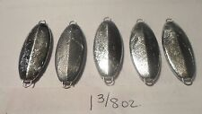 25ct. -  1 3/8oz. Unpainted Casting Jigging Spoons/Slabs - D&L Jigs & More- BASS