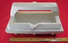 Vintage Glossy White ceramic NOS tile-in soap dish with grab bar...Extra Wide