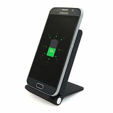 Black Qi Wireless Charging Desktop Charger Stand 3 Coil for Samsung Galaxy S6 S7