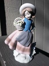 "Lladro ""Sweet Scent"" #5221  Girl with Basket, mint with box"