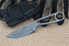 Outdoor Stone wash Fixed knife D2 Blade 58HRC Pocket Sharp Saber With Sheath