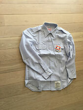 us air force dress shirt, new old stock, poly wool xxl 18.5neck 37 sleeve