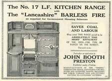 1926 John Booth Preston Kitchen Ranges Old Advert
