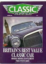 CLASSIC AND SPORTS CAR - November 1988