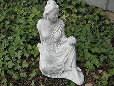 """QUAN YIN BUDDHA 16"""" Cement Statue GRAY CONCRETE Garden Decor MADE in USA!"""