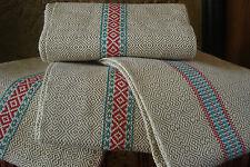 linge basque : 4 torchons en métis (lin et coton) damassé