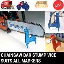 CHAINSAW BAR CHAIN STUMP VICE FILE FILING SHARPENING FITS STIHL BAUMR-AG VISE