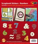 Card making & Scrapbook Stickers Numbers Transparent Gold NEW