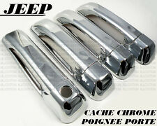 JEEP COMMANDER GRAND CHEROKEE 2005-2011 CHROME DOOR HANDLE COVER CAPS V6 V8 SRT8