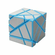 Ghost Cube 3x3 Puzzle Cube Magic Cube Blue-Silver (Base Holder/Bag Included)
