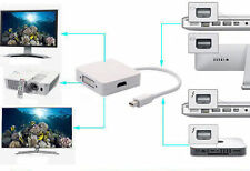 3in1 Mini Dp Thunderbolt A Dvi Vga Hdmi Adaptador Para Apple Mac Mini Pro Air Imac