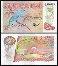 Suriname 2 1/2 GULDEN 1978 P 118b UNC Series P