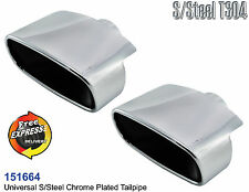 Exhaust tip tailpipe trim set oval for BMW X5 Mercedes Porsche Range Rover
